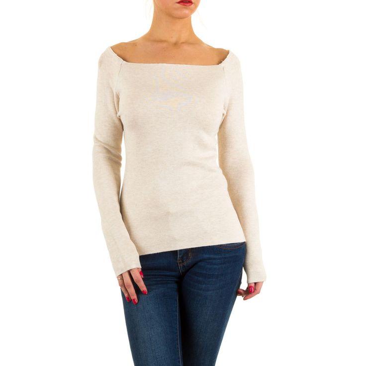 16,99 € - Klassischer Damen Stretch Pullover mit großzügigem Rundhalsausschnitt. Das Oberteil ist sehr figurbetont geschnitten.