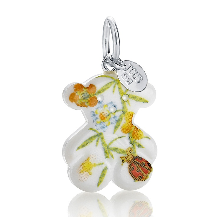 "Sterling silver and Murano crystal TOUS Pai-Pai pendant. 2cm. - 13/16"" $45.00 Tous Washington DC"
