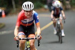 Dutch cyclist Annemiek van Vleuten during the women's road race at the Rio 2016 summer Olympics