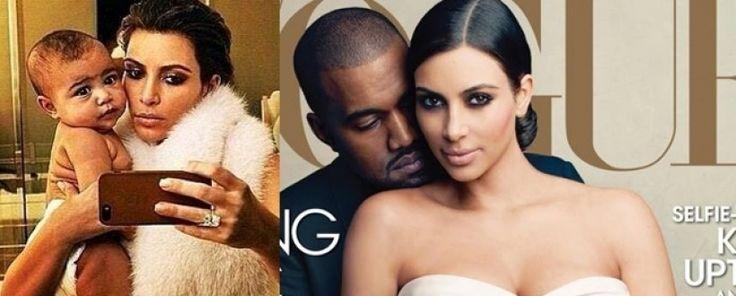 Pamiętna sesja z VOGUE. Kim i Kanye z córeczką.