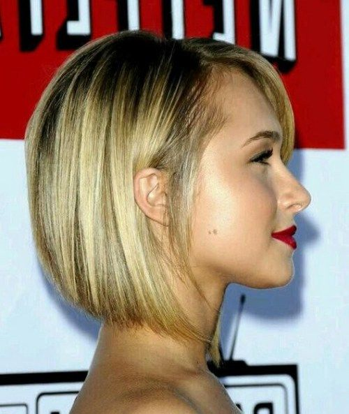 Side View of Cute Stacked bob Haircut