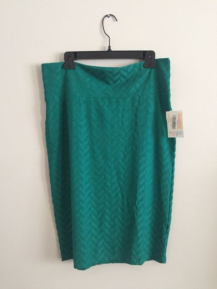 Lularoe Cassie Skirt 2XL Plus SOLID Teal Green Blue Turquoise Chevron Unicorn #LuLaRoe #StraightPencil