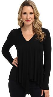Karen Kane Asymmetrical Drape Hem Top on shopstyle.com
