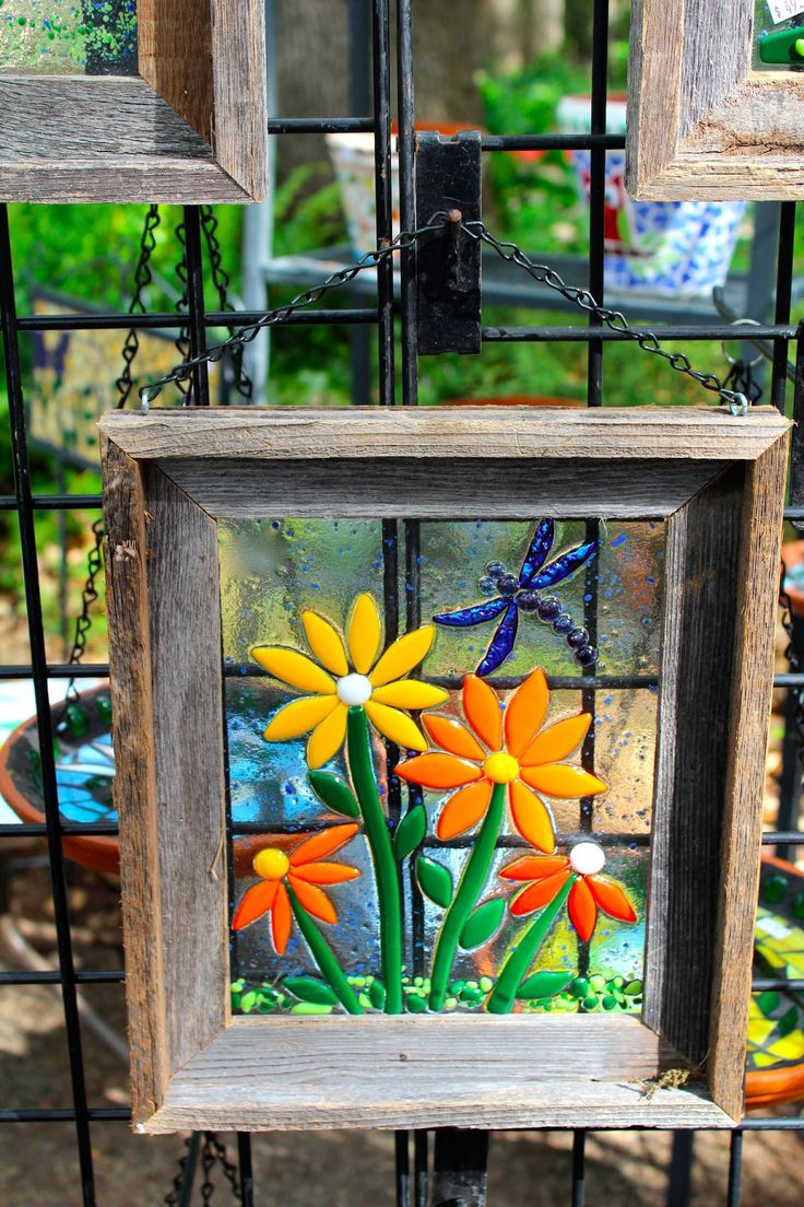 Fused Glass Yard Art - Love this stained glass fused glass window