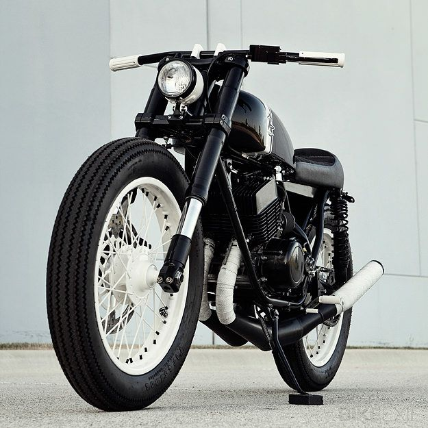 A beautiful custom Yamaha RD350 from Analog Motorcycles. One for the 2013 Bike EXIF calendar?