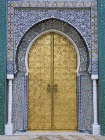 Ornate Doorway, the Royal Palace, Fez, Morocco: North Africa, Palaces, Art Com, Fez Morocco, The Royals