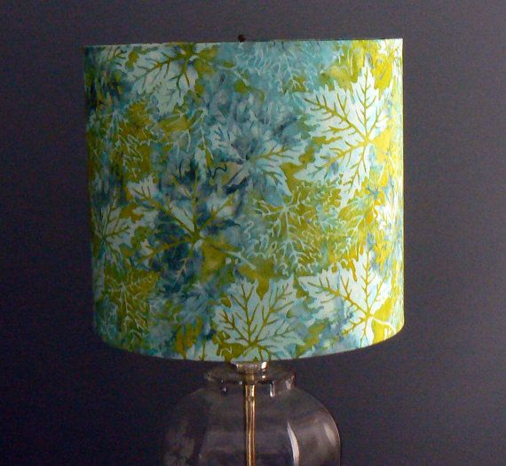 39 best lite shadow fabric lamp shades images on pinterest drum lamp shade batik maple leaves shades of blue by liteandshadow aloadofball Gallery
