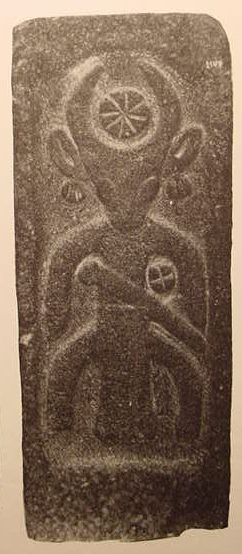 Baal-Adad, From Syria, in Damascus Museum. Is that the mark of the beast under his arm?