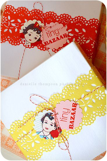 love the paper ribbon and tags