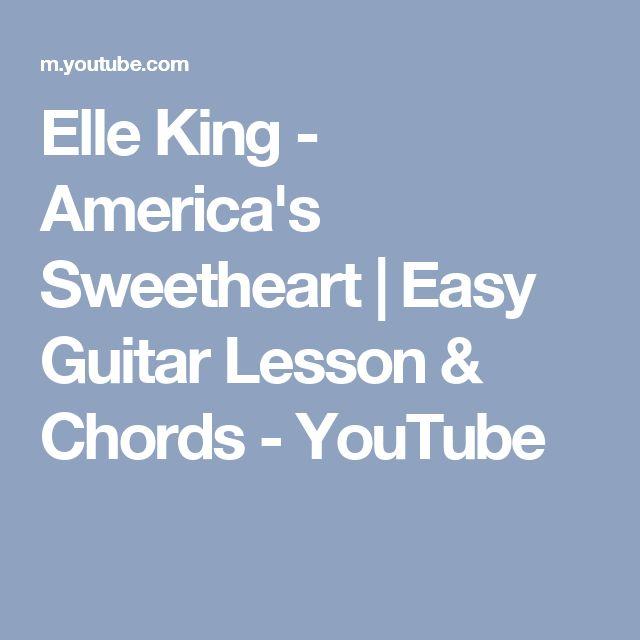 Elle King Americas Sweetheart Easy Guitar Lesson Chords