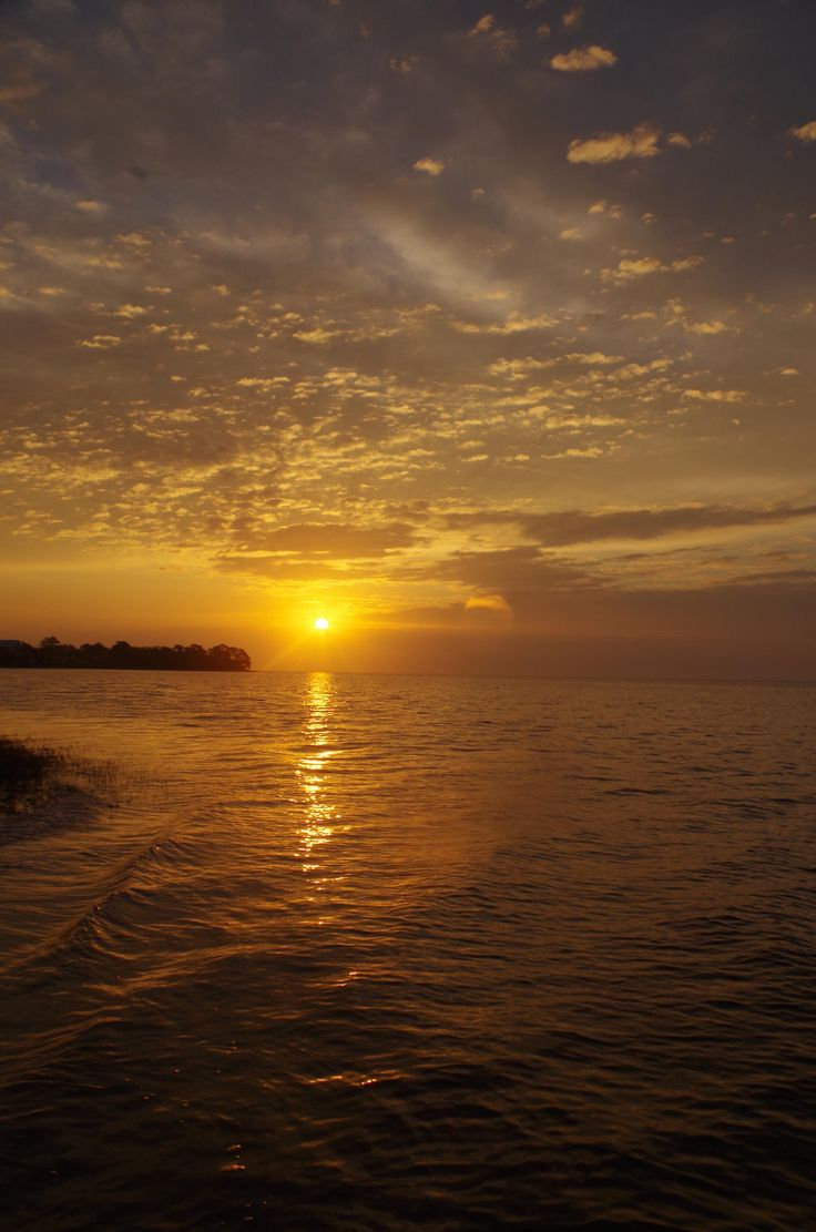 Sunrise over Live Oak Island, as seen from Shell Point Beach ~ Wakulla County, Florida.