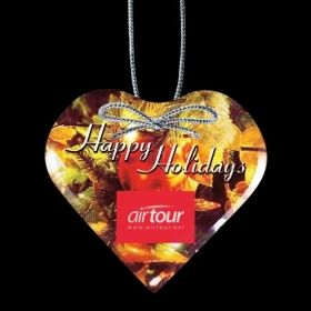 """Promotional Products Ideas That Work: VividPrint™ Ornament - Heart 3¾"""". Get yours at www.luscangroup.com"""