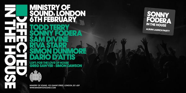 Todd Terry - February 6, 2016 - Defected In The House at Ministry of Sound #London
