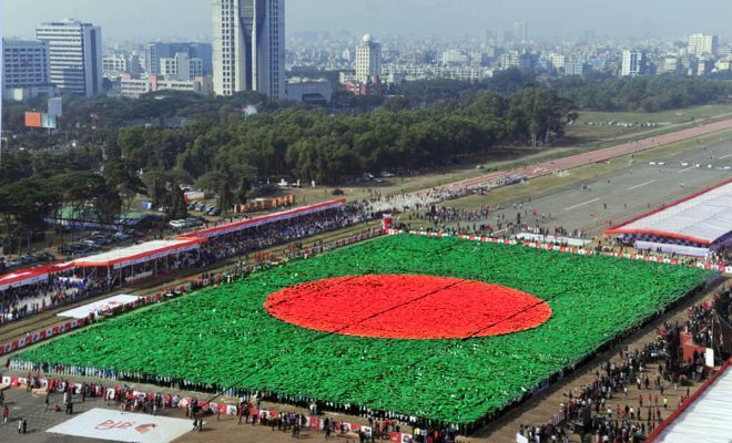 The red and green colors of the Bangladesh flag are also the traditional colors of Christmas which commemorates the birth of Jesus Christ whom Christians ...