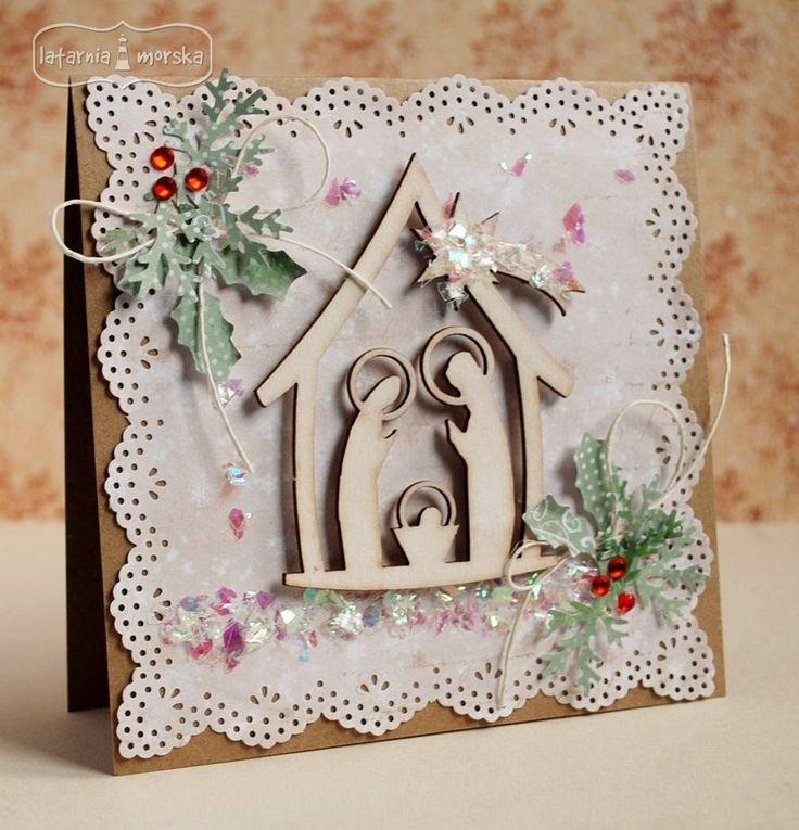 Kartka na Boże Narodzenie http://www.hurt.scrap.com.pl/stajenka-szopka-bozonarodzeniowa-prosta-2-rozmiary.html