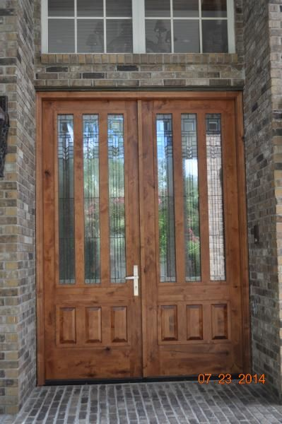 this 9u0027 tall double entry door made of knotty alder wood with odl oak park