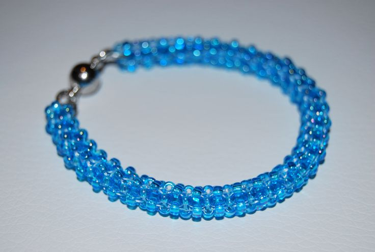 Beaded Bracelet made with TOHO beads - handmade using the Cubic Right Angle Weave (C-RAW) technique by BeaduBeadu on Etsy