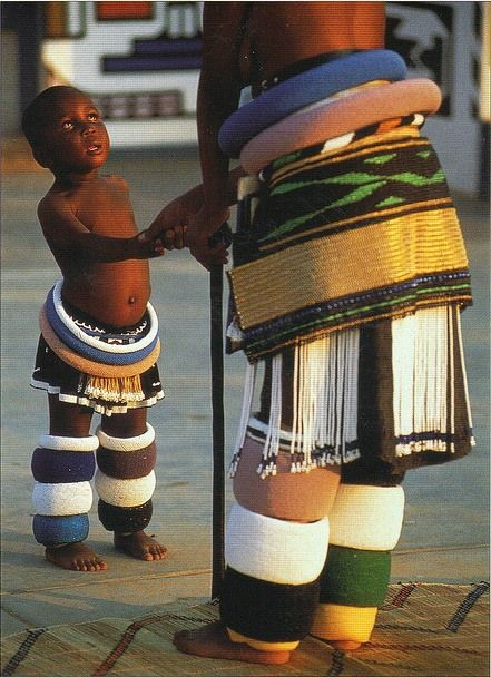 Ndebele mother & child, South Africa.