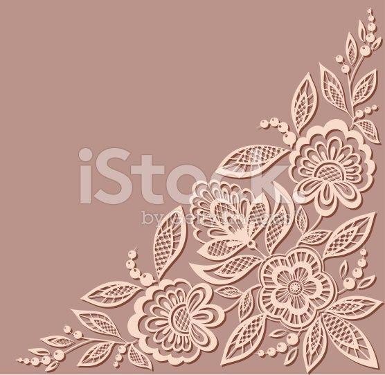Красивый цветочный рисунок, элемент дизайна в старом стиле. роялти-фри стоковый вектор искусства