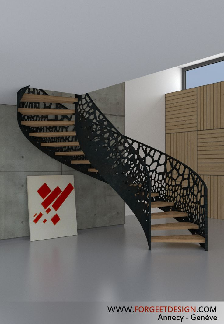 187 best balustrades and stairway infill laser cut images on pinterest stai - Escalier moderne metal ...