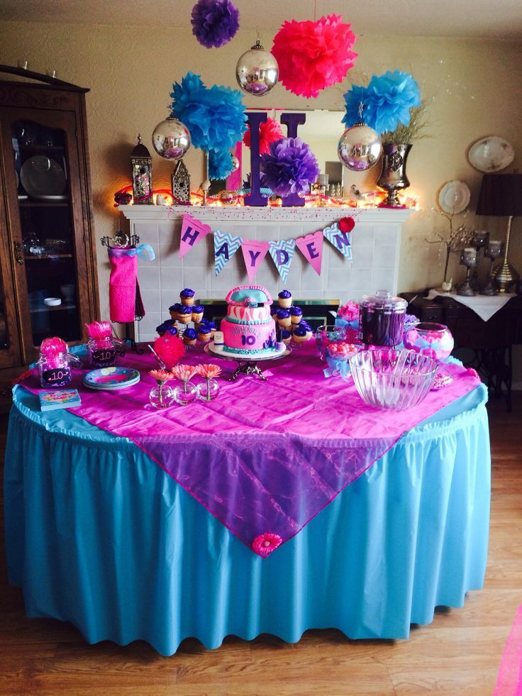 Birthday Party Ideas For 11 Yr Old Girl 10 Yr Old Girl Party Ideas How To Teenage Girls Birthday Party Ideas Fun Birthday Party Birthday Party Decorations