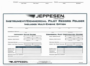 Jeppesen Student Flight Record Folder - Instrument/Commercial