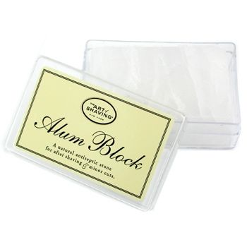 How to treat shaving nicks & cuts featuring The Art of Shaving Alum Block (click the image for article). The Boardroom Salon carries the Alum Block and Alum Pen.