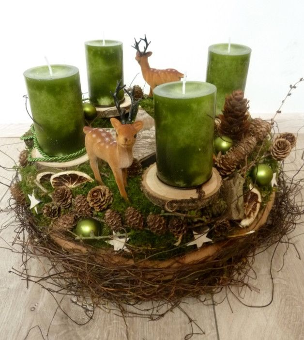 151 best Adventskranz,Adventsgesteck images on Pinterest | Christmas ...