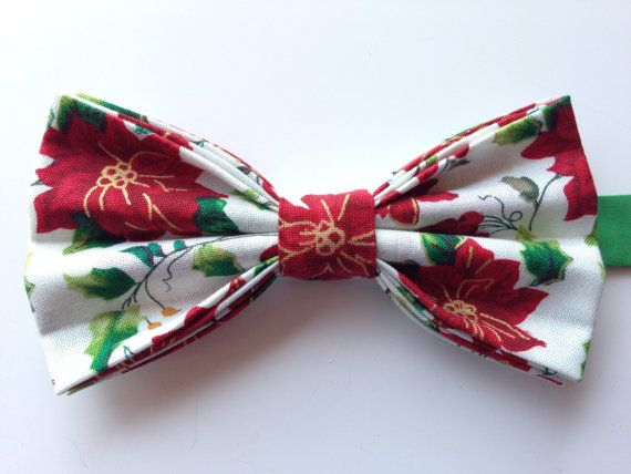 Christmas Bow Tie Holiday BowTie Christmas by WatfordTies on Etsy