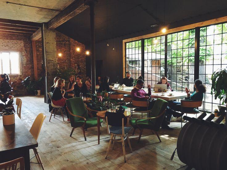 coffeeinprague.cz | #kavarnacohledajmeno #cafe #cafeé #coffeehouse #Prague #Praha #káva #coffee #interior #urban #industrial #design #interiordesign #wood #street #unique #handmade #DIY #industry #madebyhand #bricks  #cool #bulbs #minimalism #minimalistic #minimal #different #atmosphere #copper