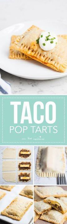 Taco Pop Tarts AK Taco Pop Tarts AKA mini taco pies are...  Taco Pop Tarts AK Taco Pop Tarts AKA mini taco pies are one of my families favorite! The flaky crust seasoned taco meat colby-jack cheese and fresh salsa give these such amazing flavor!