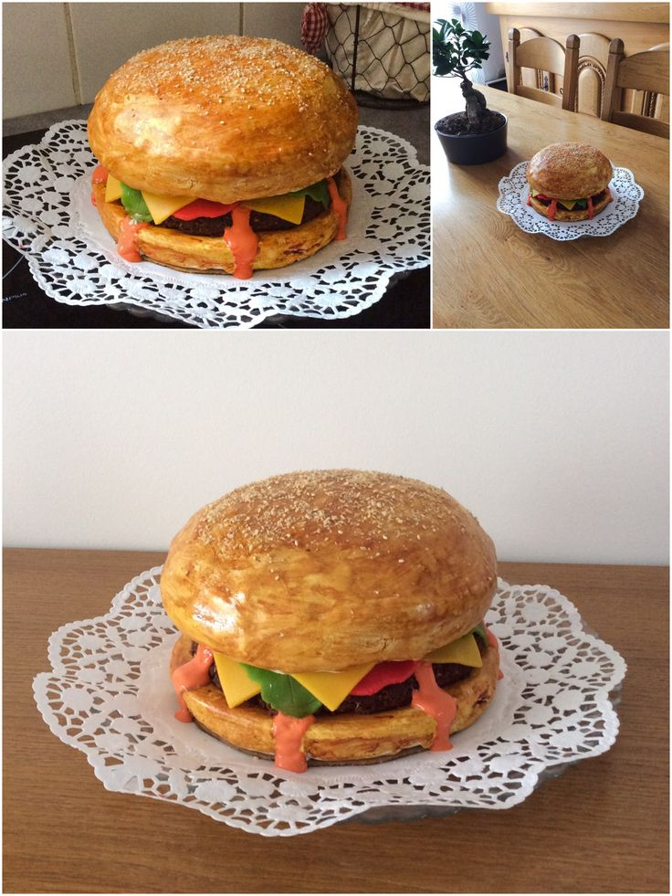 Maxi hamburger cake