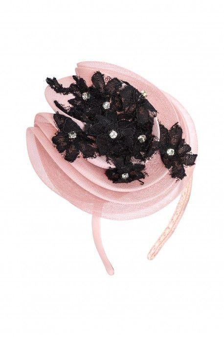 Headband with lace and diamonds