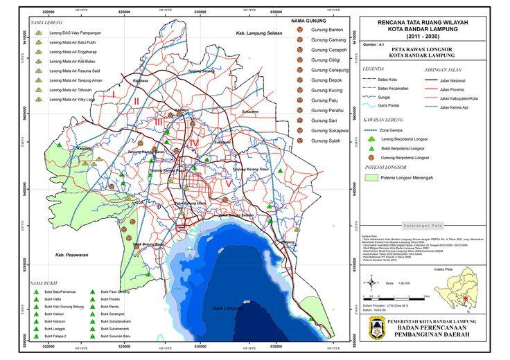 3. Bandar Lampung - Landslides prone area