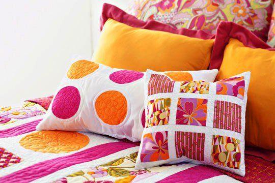 Пэчворк в интерьере, гостиной и спальни, подушки и одеяла, фото, видео   Все о дизайне и ремонте дома
