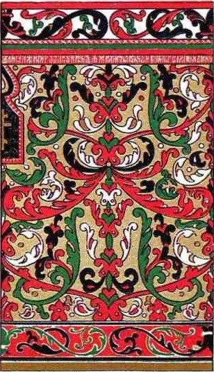 Old Russian pattern. 17-th century.