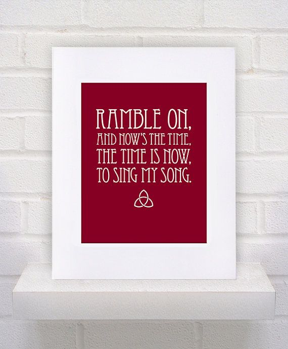 Love This - Led Zeppelin Ramble On Print