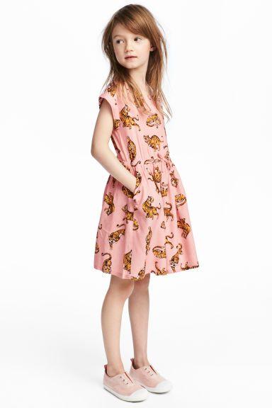 a0748ca49 Patterned Dress - Pink tigers - Kids
