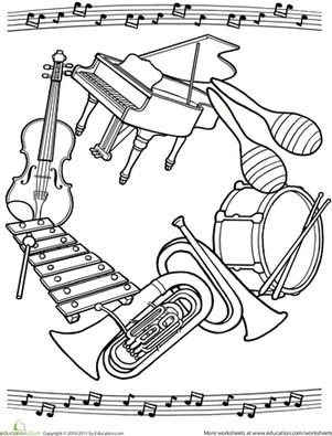 Second Grade Mandalas Music Worksheets: Music Mandala