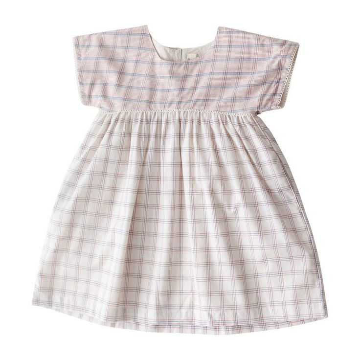 Lali Girls White Chex Gooseberry Dress Size 6y In
