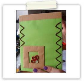 Green hand-made notebook