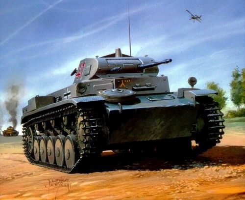 1940 Francia  Panzer II Ausf C - 7 Panzer Division - Jaroslaw Wróbel