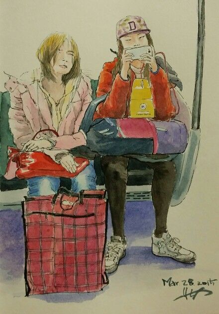 girls in tube