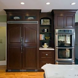 kitchen layout with double wall oven | Kitchen Double Wall Ovens Design, Pictures, Remodel, ... | For the Ho ...