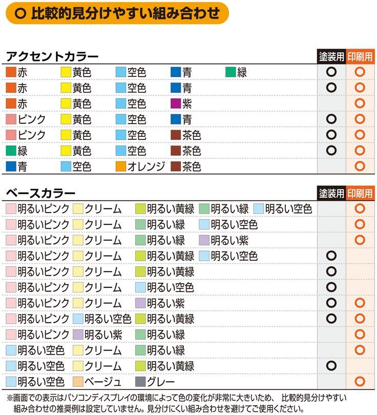 カラーユニバーサルデザイン推奨配色セット