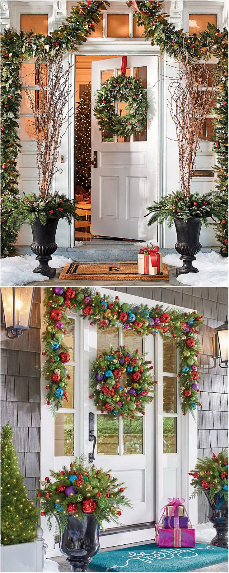 16 Stylish IndoorOutdoor Christmas Decorations grandinroad 1711