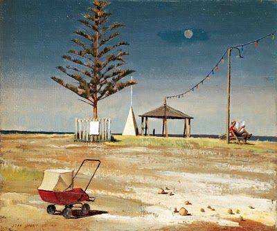 Landscape Painting by Australian Artist Jeffrey Smart - Holiday Resort