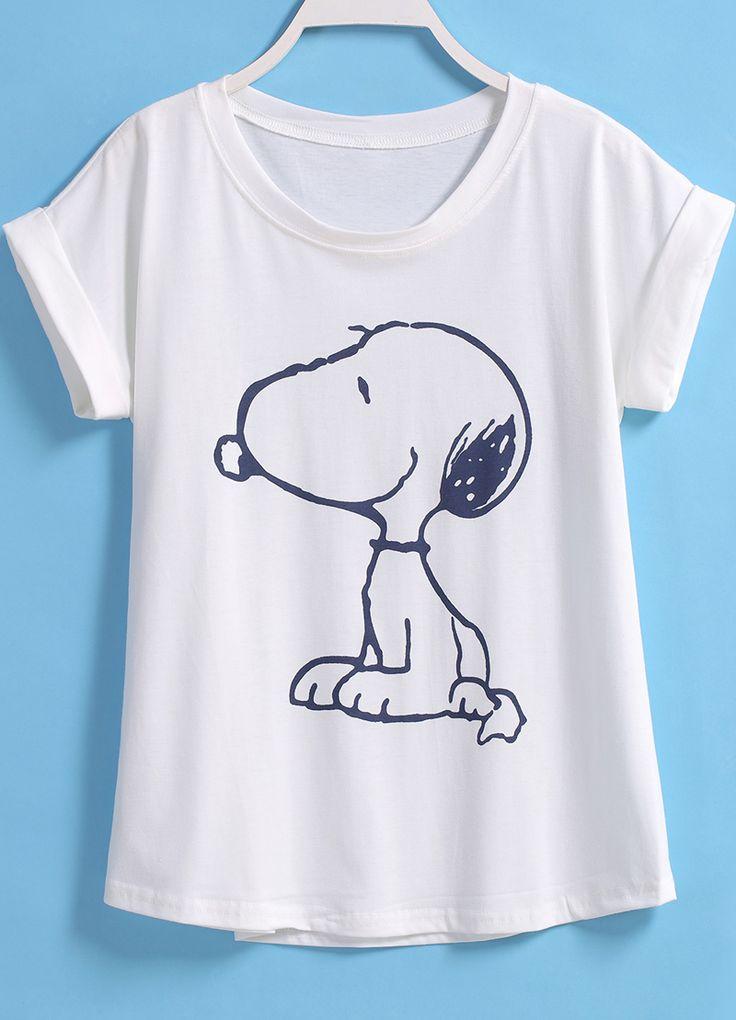 Snoopy Print Loose T-shirt