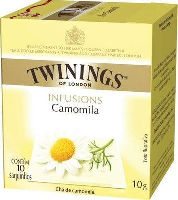 Twinings of London cha camomila caixa com 10 saches