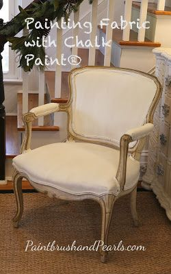 Paintbrush and Pearls - tutorial on painting fabric with chalk paint®